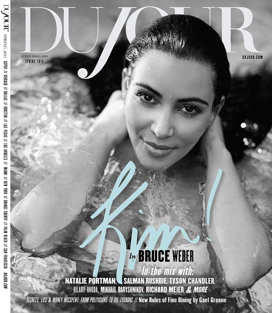 Kim Kardashian covers DuJour magazine's Spring 2013 issue.  Source: Bruce Weber for DuJour magazine