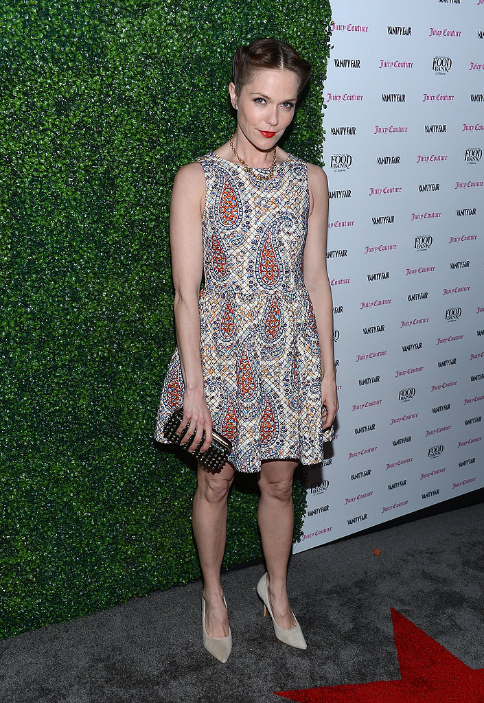 Katie Aselton went for a girlie frock.