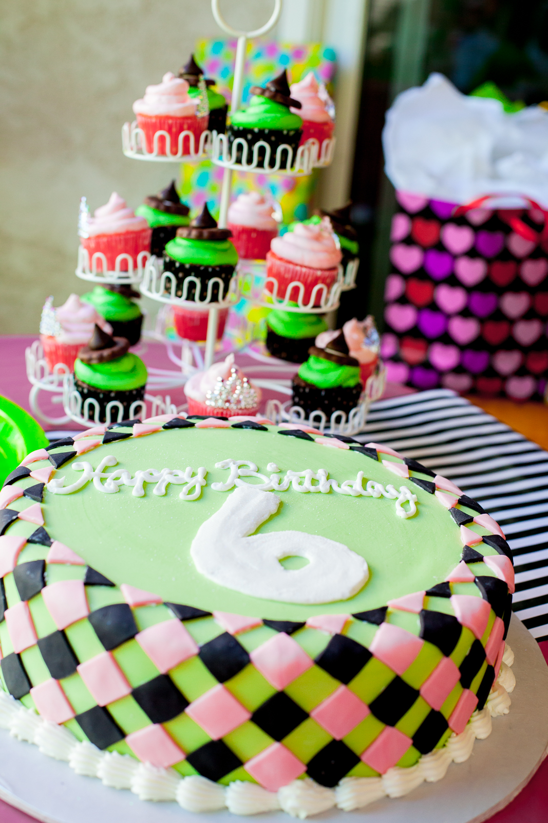 Green and Pink Cake
