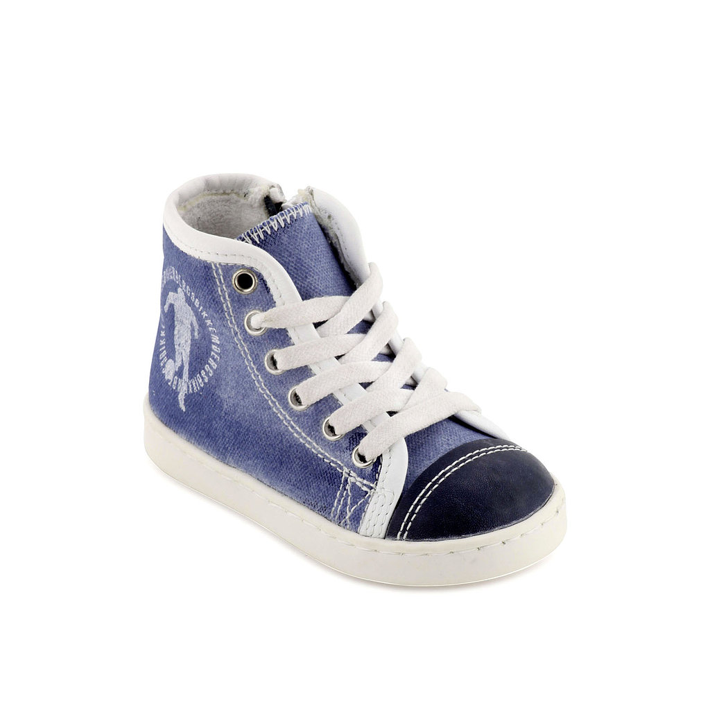 Bikkembergs Stonewashed Canvas High Trainers
