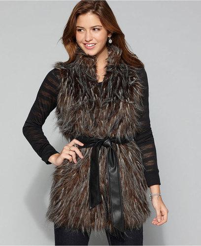 Brown Fur Vest