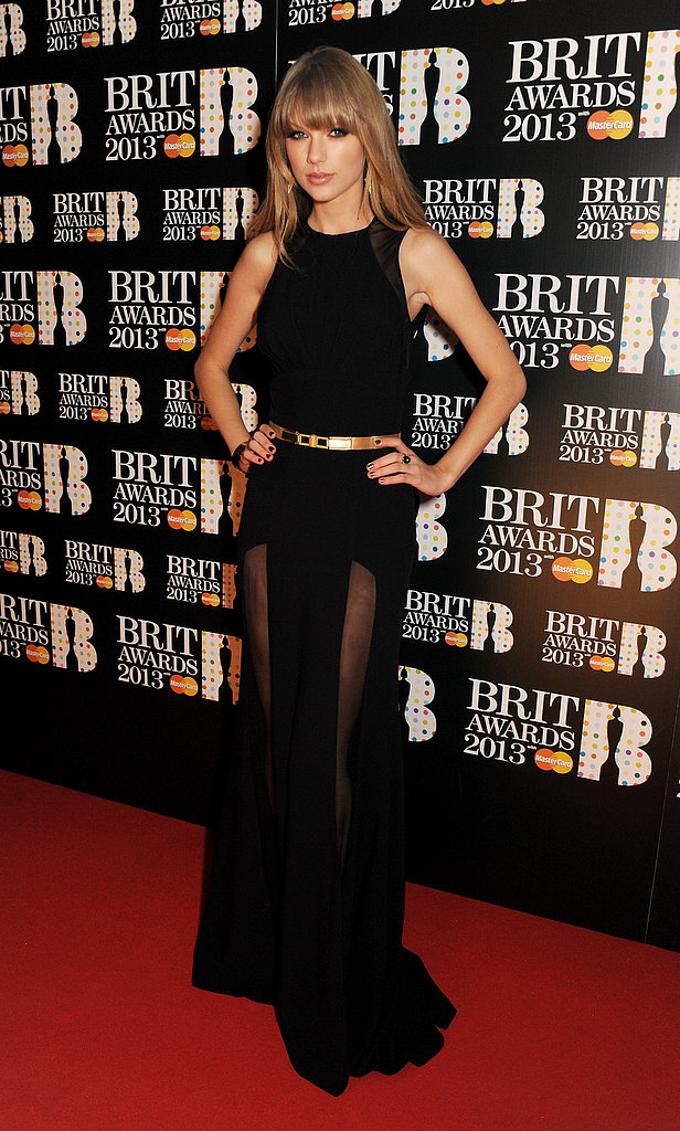 Taylor Swift attended the Brit Awards.