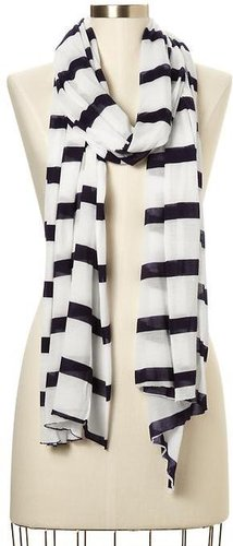 Striped T-shirt scarf