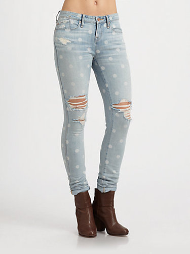 Marc by Marc Jacobs Lily Polka-Dot Skinny Jeans