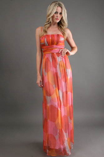 Decode 1.8 Polka Dot Maxi in Coral Multi