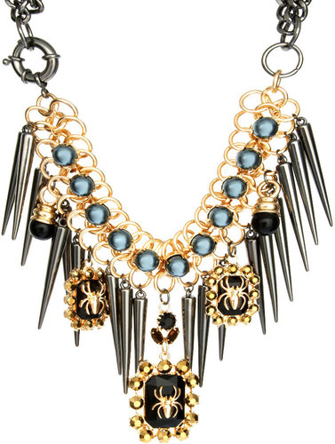 ASOS Premium Spider Jewel & Spike Necklace
