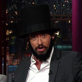 Hugh Jackman Dressed as Lincoln on Letterman