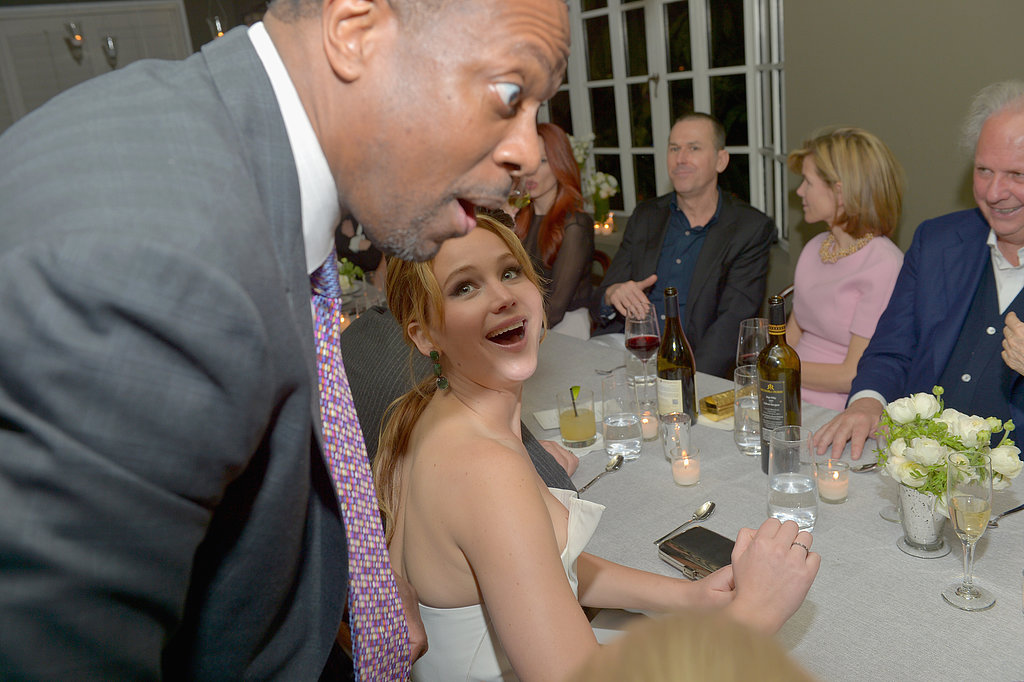 Chris Tucker had fun with Jennifer Lawrence at a pre-Oscars bash in LA on Wednesday.