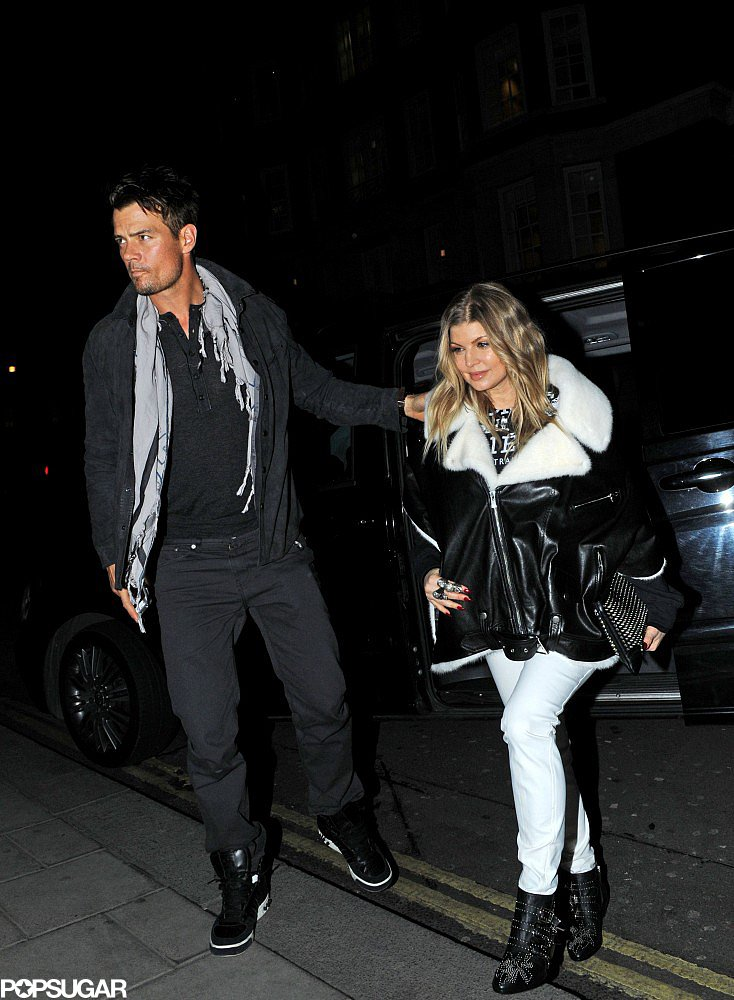 Josh Duhamel and Fergie went on a dinner date in London.