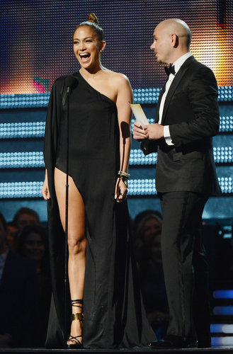 Jennifer Lopez's leggy outfit at the Grammys was the subject of many headlines since the show's producers had sent out strict guidelines about how much skin is too much skin a few days before the event.