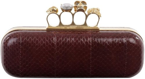 Oxblood Whipsnake Knucklebox Clutch