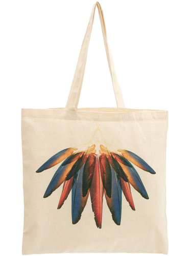 Borders&frontiers Borders & Frontiers Dawn Feather Print Shopper