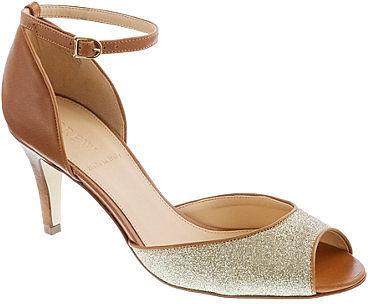 Lara glitter peep-toe heels