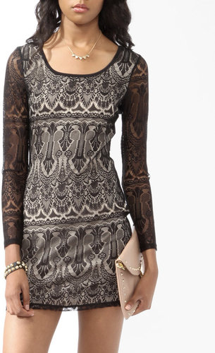 Forever 21 Long Sleeve Lace Dress