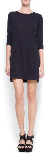 Contrasted panel knit dress