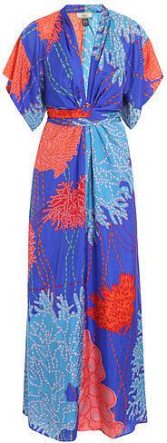 Issa Kimono printed silk dress