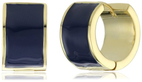 Kate Spade New York Bar None Huggie Blue Earrings