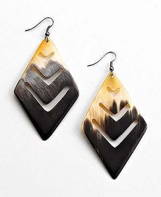 Heart of Haiti Jewelry, Geo Horn Earrings