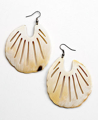 Heart of Haiti Jewelry, Scalloped Horn Earrings