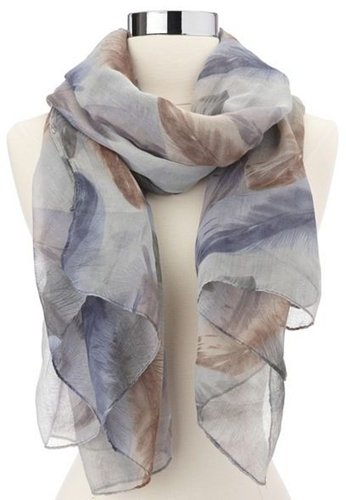 Falling Feathers Woven Scarf