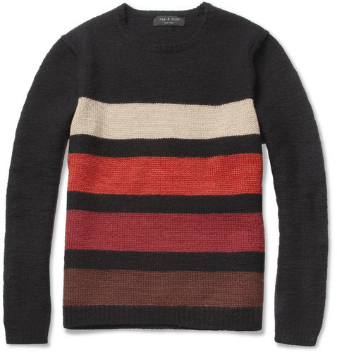 Rag & bone Bedford Striped Wool-Blend Sweater