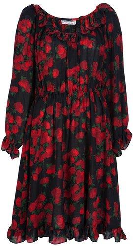 Yves Saint Laurent Vintage rose print dress