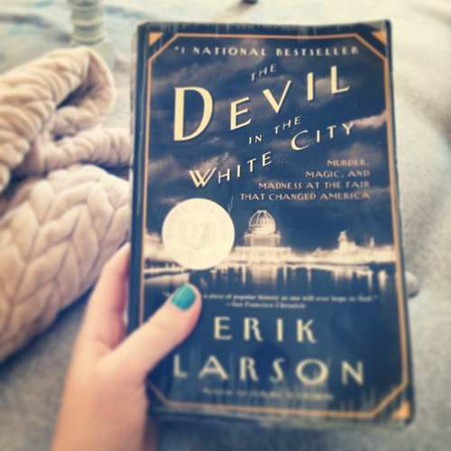 I just finished The Devil in the White City by Erik Larson for a book club. The historical nonfiction is far from boring — alternating between the story behind the architects who designed the Chicago World's Fair of 1893 and the first famous American serial killer who was murdering people at the same time.