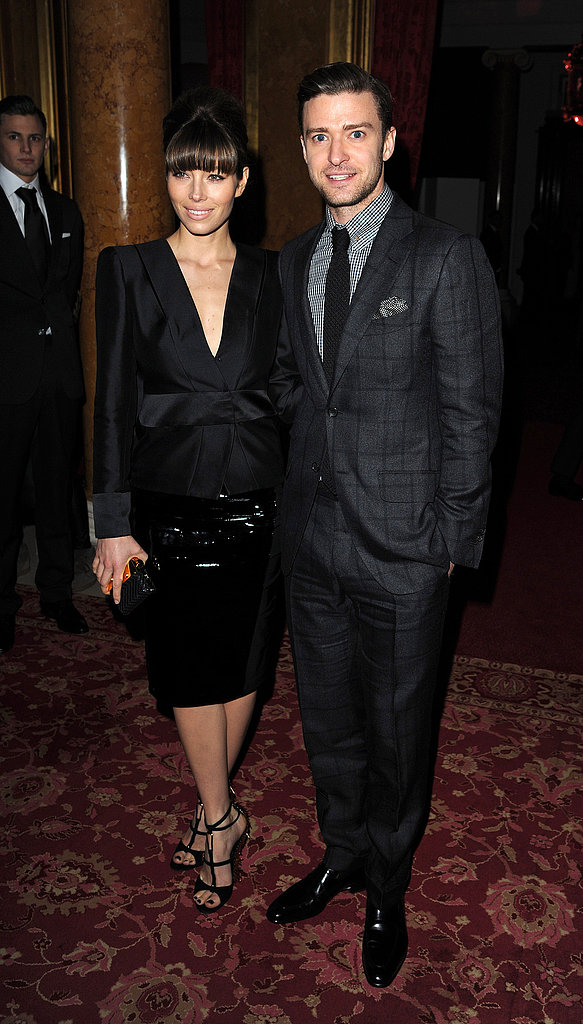 Jessica Biel and Justin Timberlake made one good-looking couple when they hit the Tom Ford runway show at London Fashion Week on February 18.