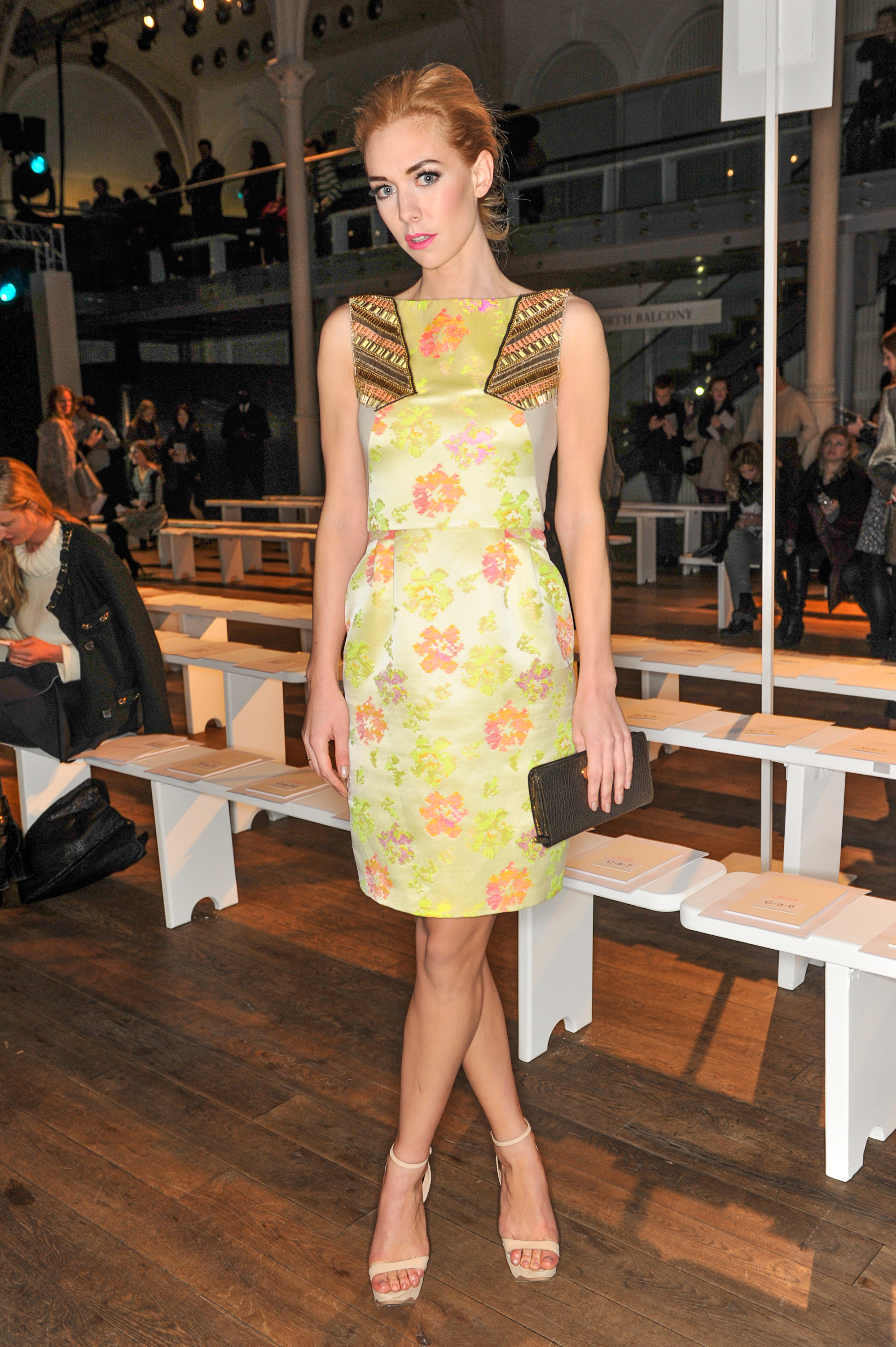 Vanessa Kirby at the Matthew Williamson Fall 2013 show in London.