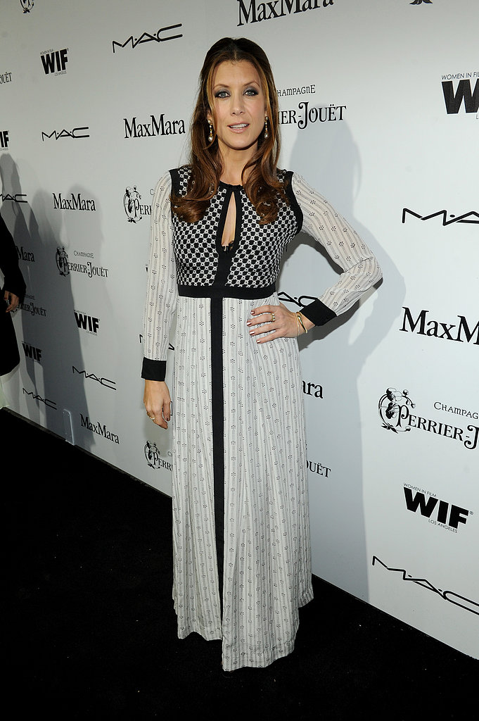 Kate Walsh chose a mixed-print Isabel Marant maxi dress with long sleeves and a keyhole cutout for the Women in Film cocktail party in LA.