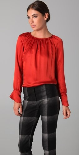 Derek Lam Scoop Neck Blouse
