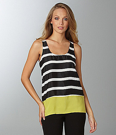 Collective Concepts Colorblock Stripe Top