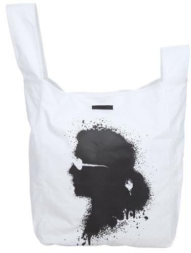 Karl Karl Lagerfeld print tote bag