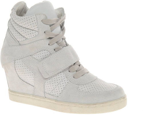 Ash Cool Bis Strap White Wedge Sneakers