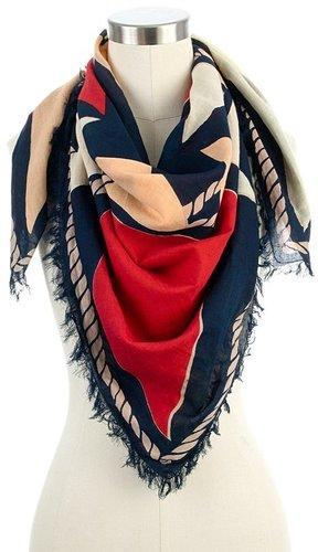 Flag fringe scarf