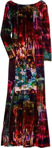 Erdem Daniella printed velvet gown