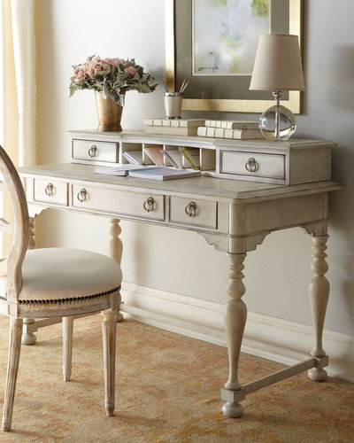 """Emeline"" Desk and Hutch"