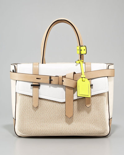 Reed Krakoff Boxer Tote Bag, Nude/Multicolor