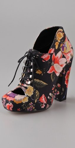Rodarte For Opening Ceremony Floral High Heel Booties