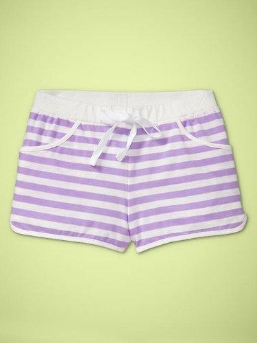 Striped drawstring shorts