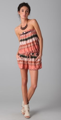 Torn By Ronny Kobo Paige Strapless Romper