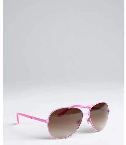 Kate Spade fuchsia metal 'Alda' aviator sunglasses