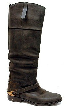 """Golden Goose """"Charlye"""" Black Distressed Boots"""