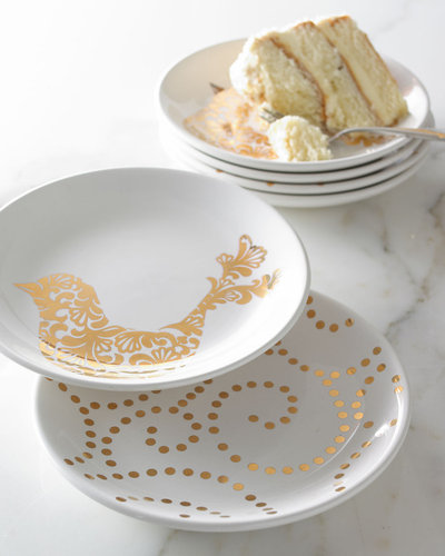 """Gold Dots"" & ""Gold Bird"" Accent Plates"
