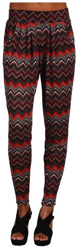 Brigitte Bailey - Chevron Knit Pant (Red Multi Print) - Apparel