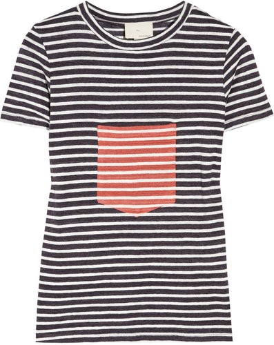 Boy. by Band of Outsiders Pocket-detailed striped cotton-jersey T-shirt