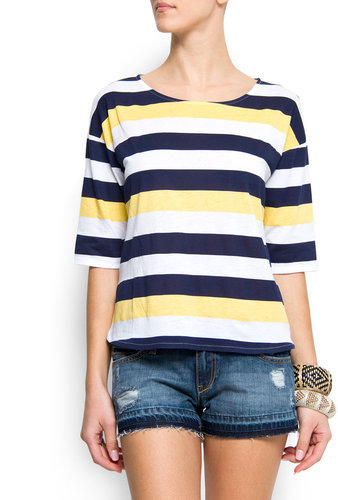 Tricolour stripes t-shirt