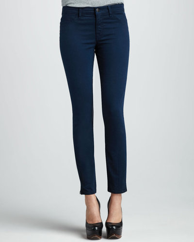J Brand Jeans 8610 Marine Mid-Rise Zip Skinny Jeans