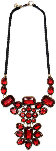 Bib necklace with crystal beads