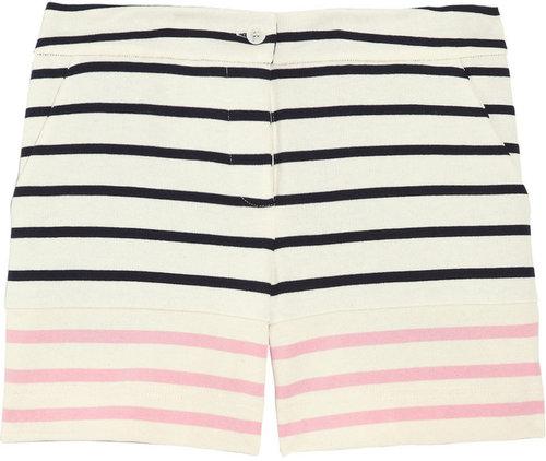 Markus Lupfer Striped cotton shorts